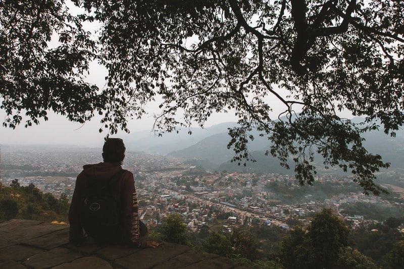 Покхара, вид сверху