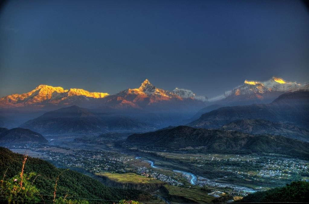 Покхара на закате