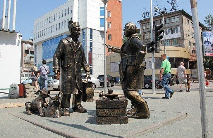 Скульптурная композиция «Сцена покупки»