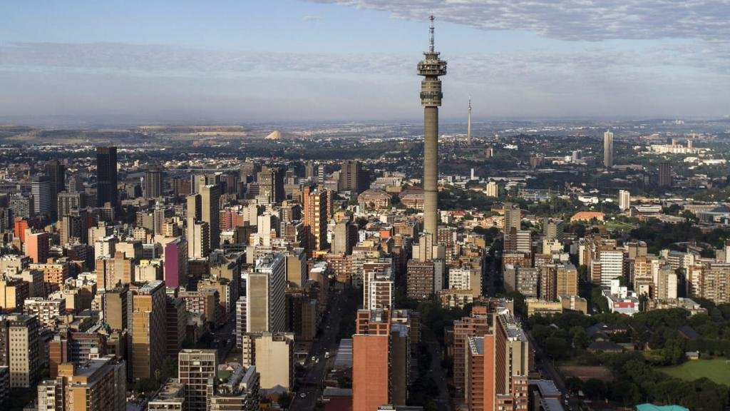 вид на город Йоханнесбург