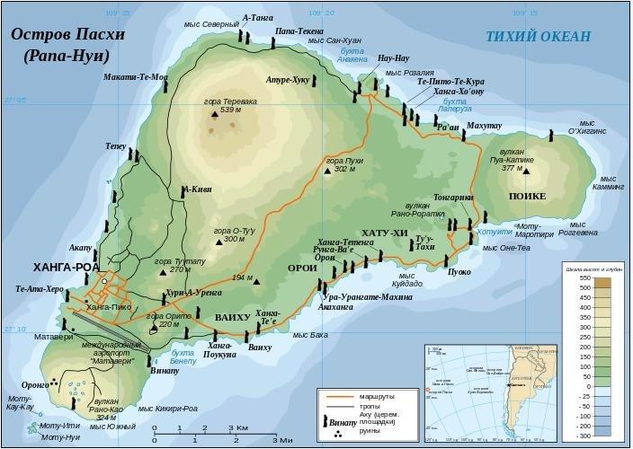 топография острова
