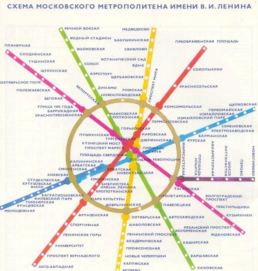 Схема линий метро