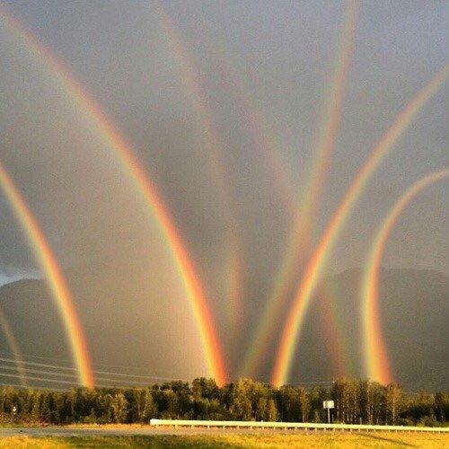 Как появляется радуга