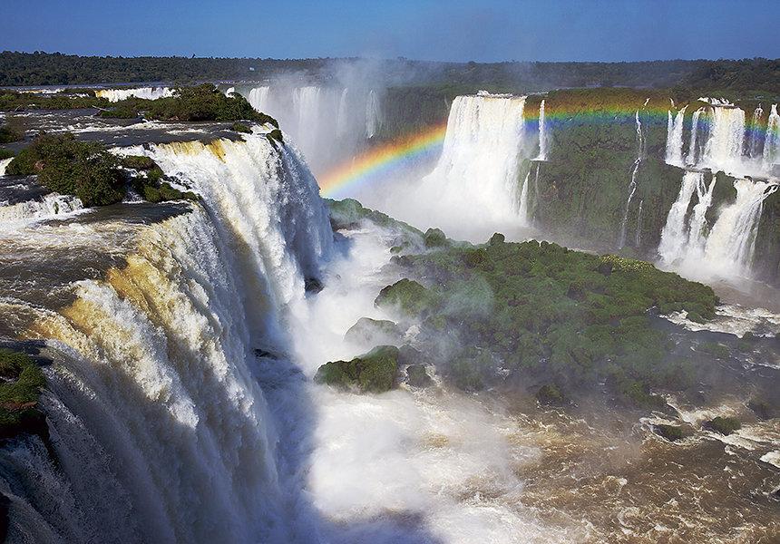 Радуга и водопад