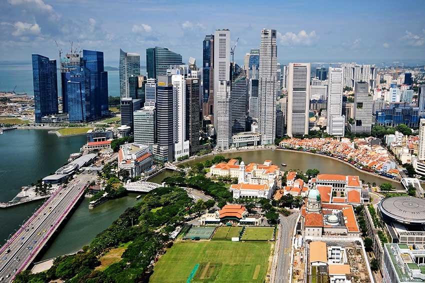 Потрясающие виды Сингапура