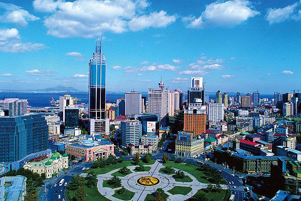 Современный китайский город Далянь