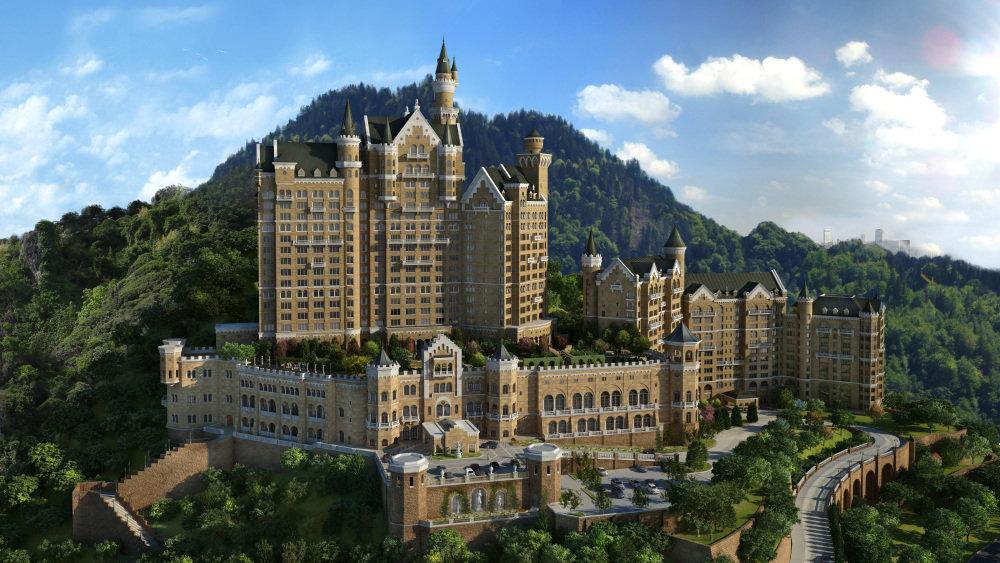 Отель в виде средневекового замка