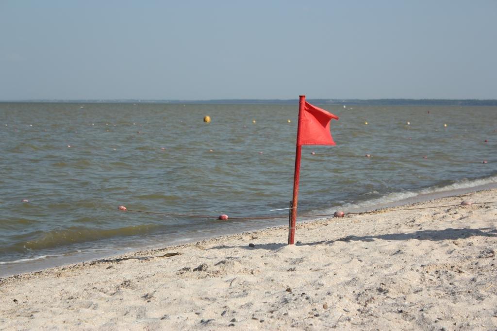 Флаг на пляже