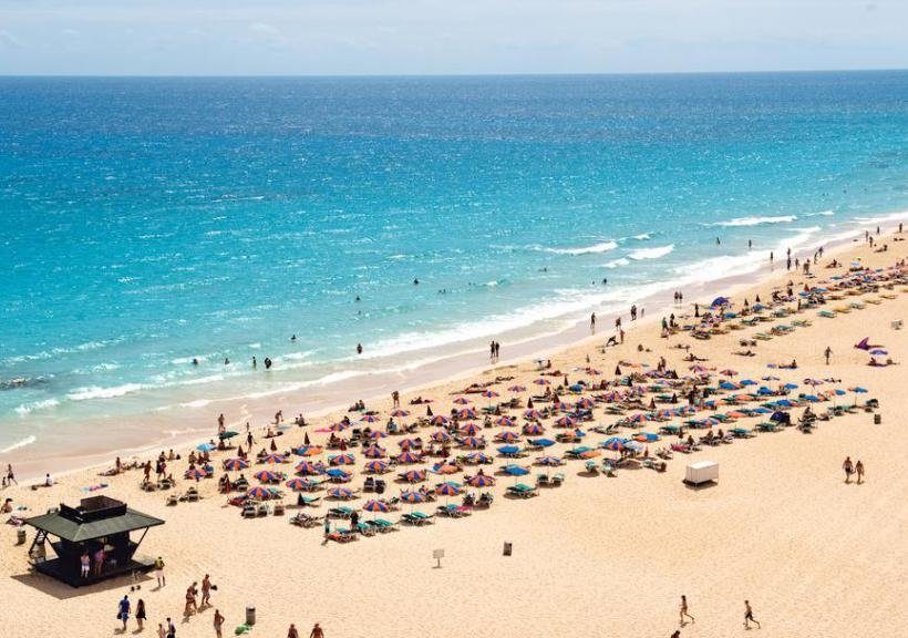 Пляж Корралехо на Канарских островах