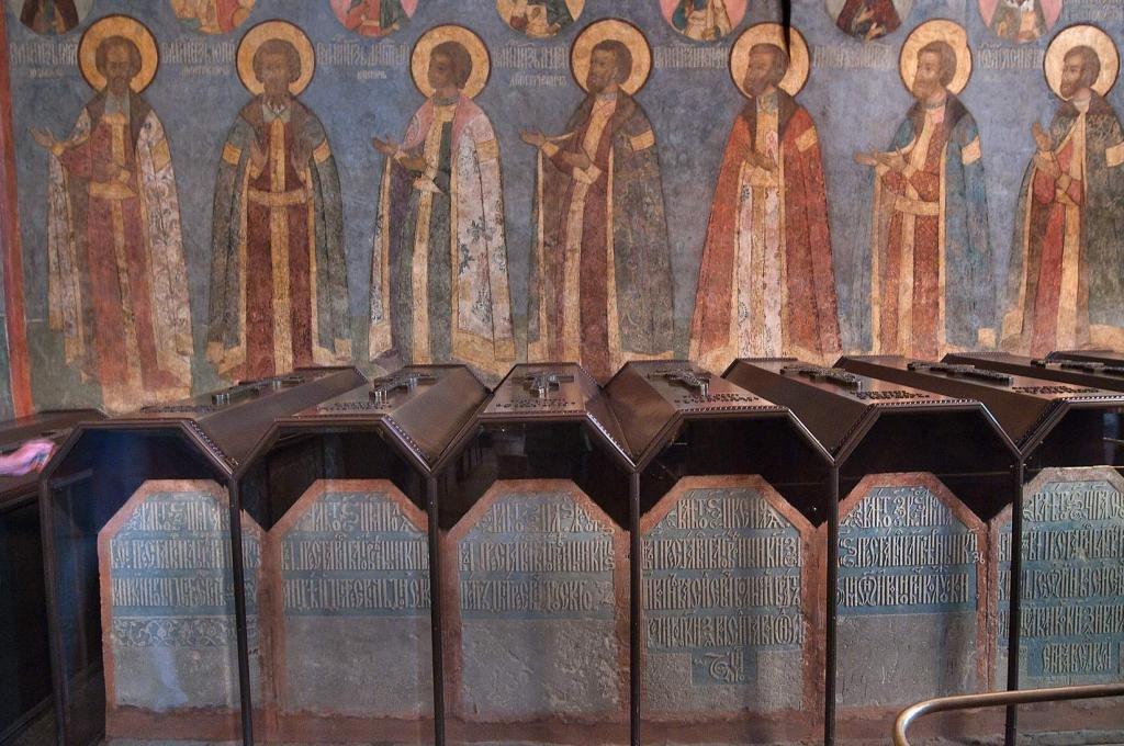 Могилы русских царей в соборе