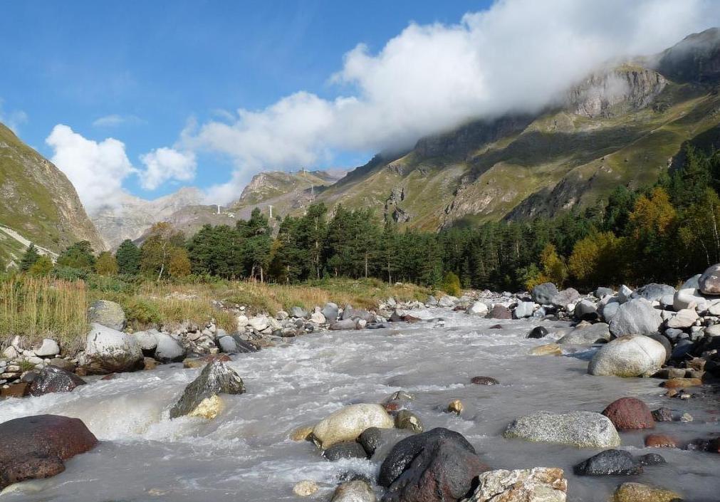 красота реки баксан