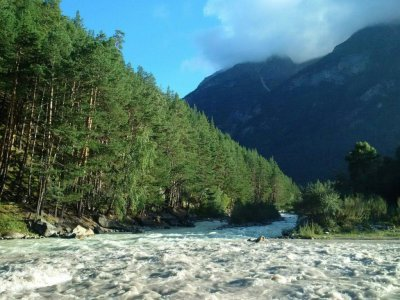 Река Баксан в Кабардино-Балкарии - непокорная дочь Эльбруса