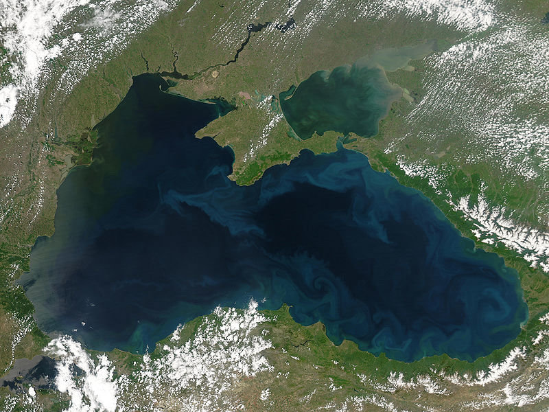 Очертания Черного моря