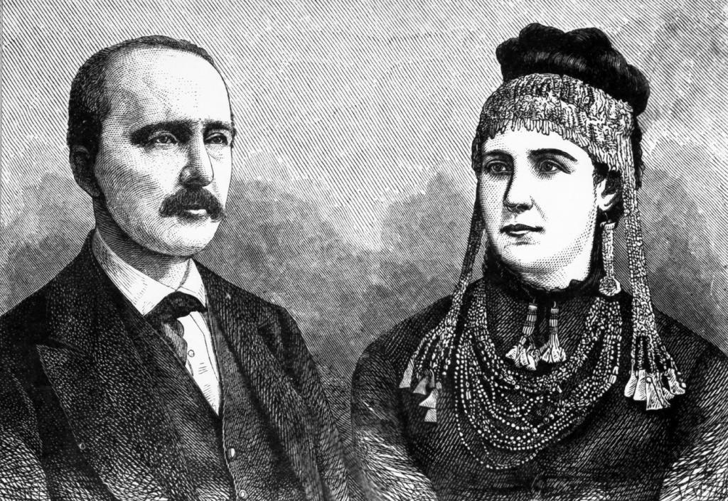 Генрих Шлиман с супругой