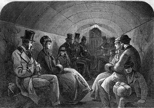 пассажиры первого метро
