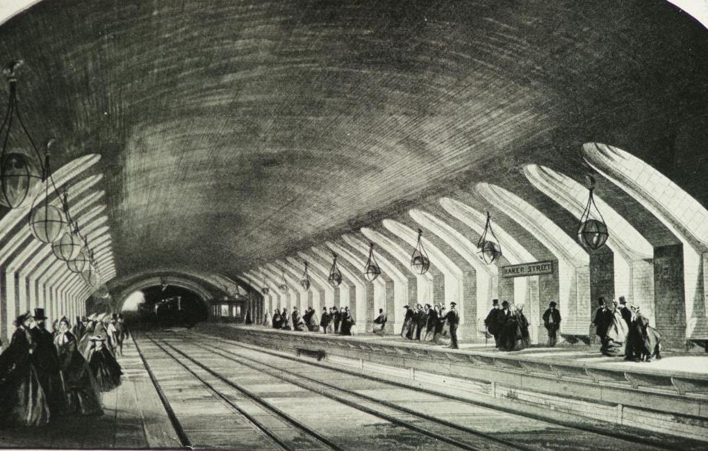 станция Бейкер Стрит, 1863 год