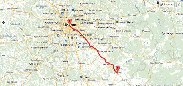 Москва - Луховицы: особенности поездки по маршруту