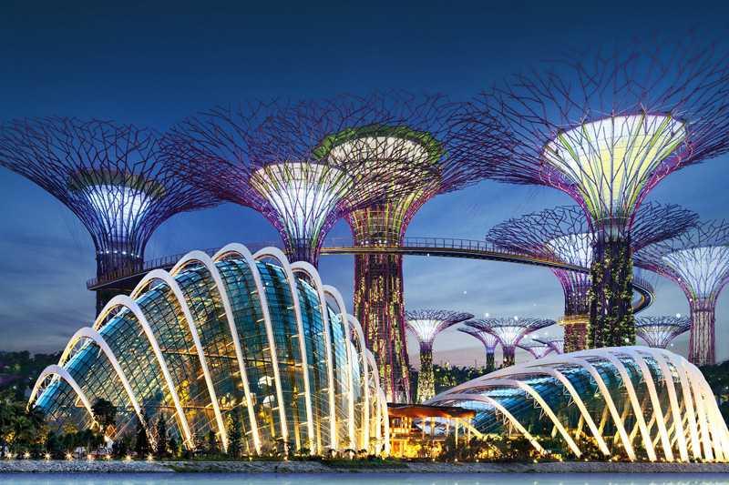 The Gardens by the Bay - сады у Залива в Сингапуре